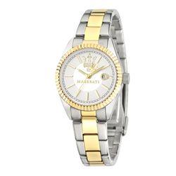 MASERATI COMPETIZIONE Damen Armbanduhr 32 mm Edelstahl Bicolor gold silber