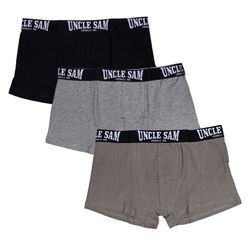 UNCLE SAM Herren Retro Shorts, 3er-Pack