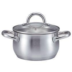 SSW Kitchen Q Profi Plus Kochtopf mit Deckel, Edelstahl, Ø 16 cm, 1,9 l