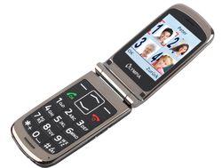 Style Plus olympique aînés noirs confort téléphone mobile avec de grandes touches