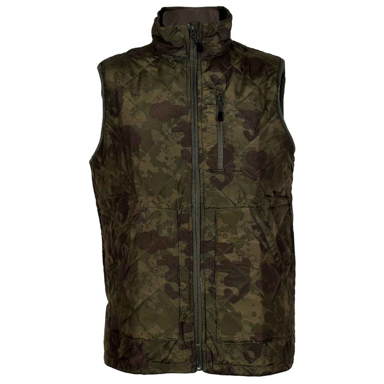 Hochwertige Herren Steppweste Outdoor Reflektierend Wasserabweisend Camouflage