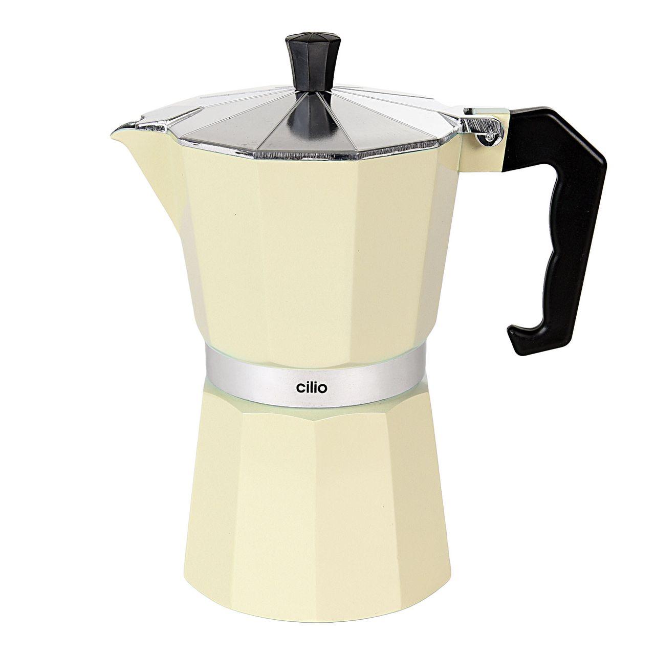 CILIO Classico Espressokocher 6 Tassen, Creme