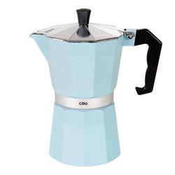 CILIO Classico Espressokocher 6 Tassen, Hellblau