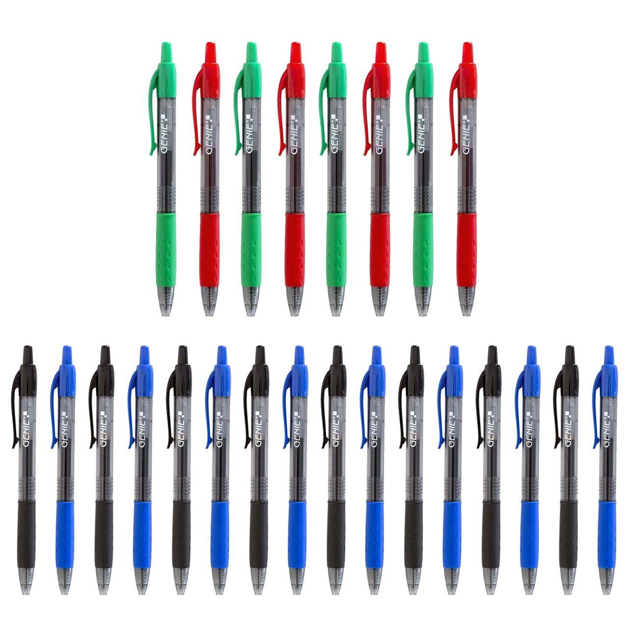 12 GENIE Gelschreiber Set Kugelschreiber Kulli Kuli Stift Gelstifte schwarz blau