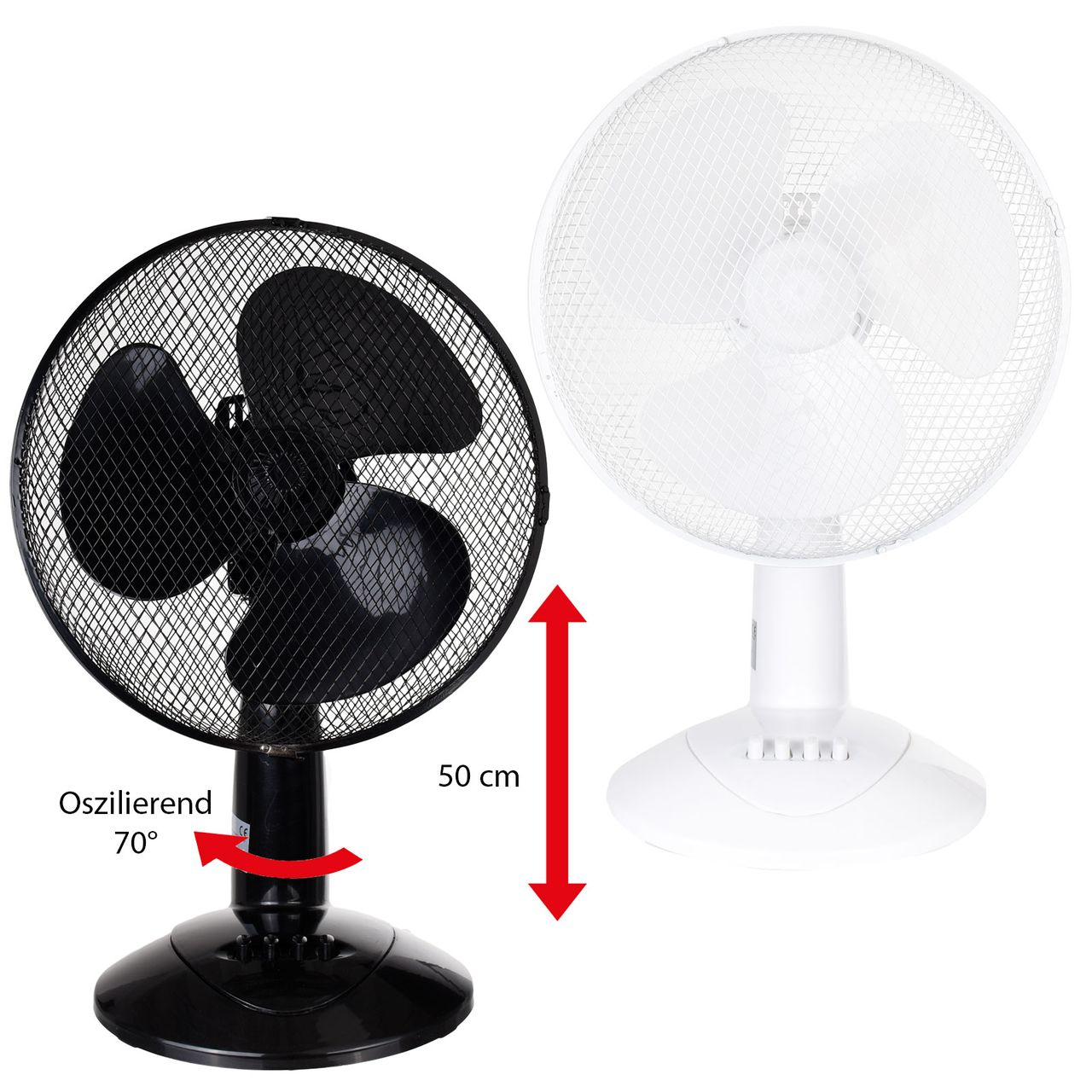 Fan with Pan function with nightlight  Ø40cm 130cm adjustable in height