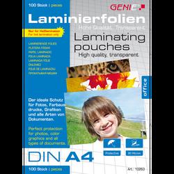 100 St. Genie Laminierfolien DIN A4 (80 Micron)