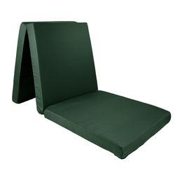 Komfort Klappmatratze, Reisematratze, Gästebett, 190 x 60 x 7 cm, Dunkelgrün