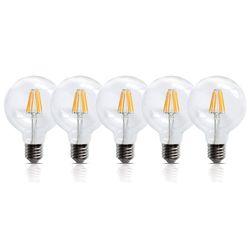 5 Stück LED Filament Leuchte E27 6W 600 Lumen Lampe Glühfaden Innenbereich