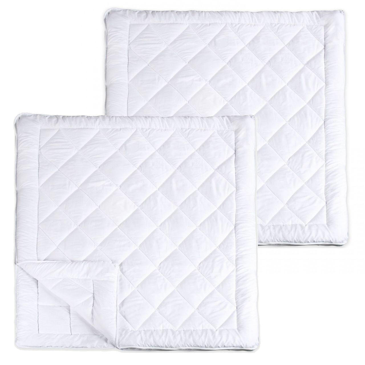 2 Stück XXL Vierjahreszeiten Steppbett Premium Steppdecke Allergiker Microfaser 200 x 200 cm