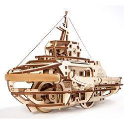 UGEARS Schleppschiff Schlepper Mechanischer Modellbausatz