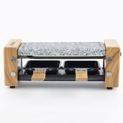 H.koenig RP2 Raclette Party with Grill and Granite Stone for 2 Persons