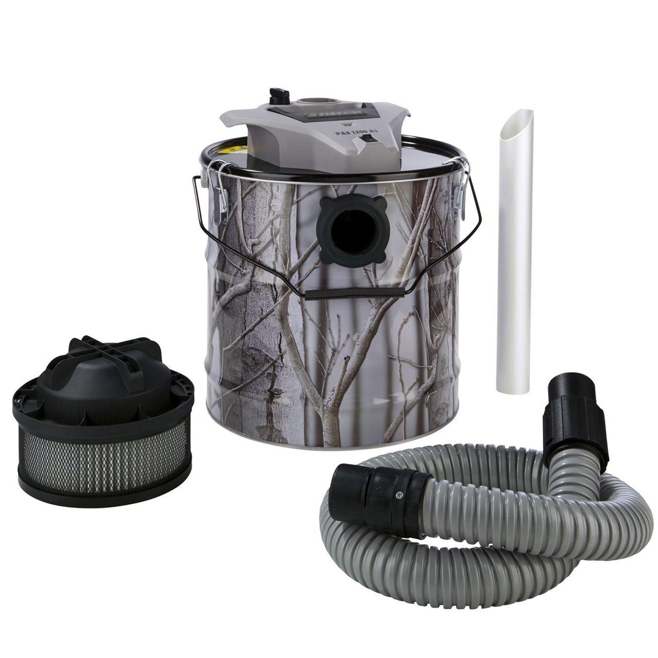 Grizzly Tools Aschesauger Kaminsauger 1200 Watt 18 Liter 2-stufiges Filtersystem
