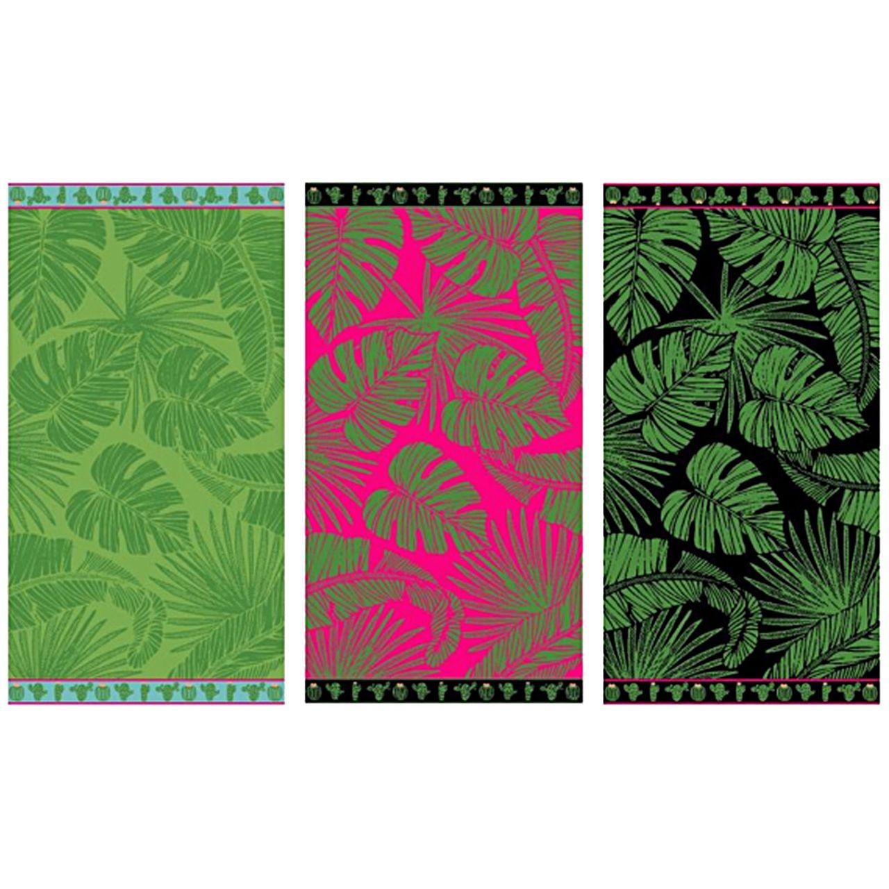 LEX Saunatuch Handtuch Duschtuch Tropical verschiedene Farben Baumwolle 90 x 170 cm