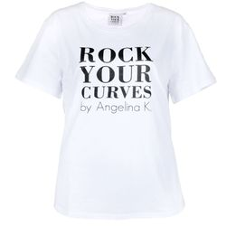 RYC by Angelina Kirsch Curvy Damen T-Shirt White
