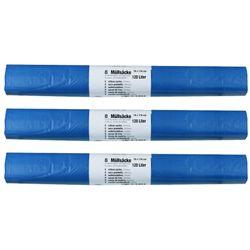 3x Abfallsäcke stabil 120 L 24 Stk 70 x 110 cm Blau