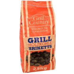 GRILL COUNTRY Grillkohle Briketts 2,5 kg