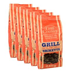 GRILL COUNTRY Grillkohle Briketts 12,5 kg