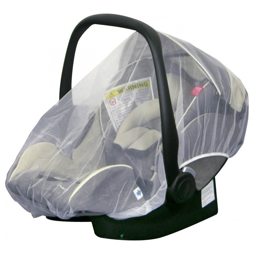 H+H BS 513 Mosquito Net for Child's Car Seat, White