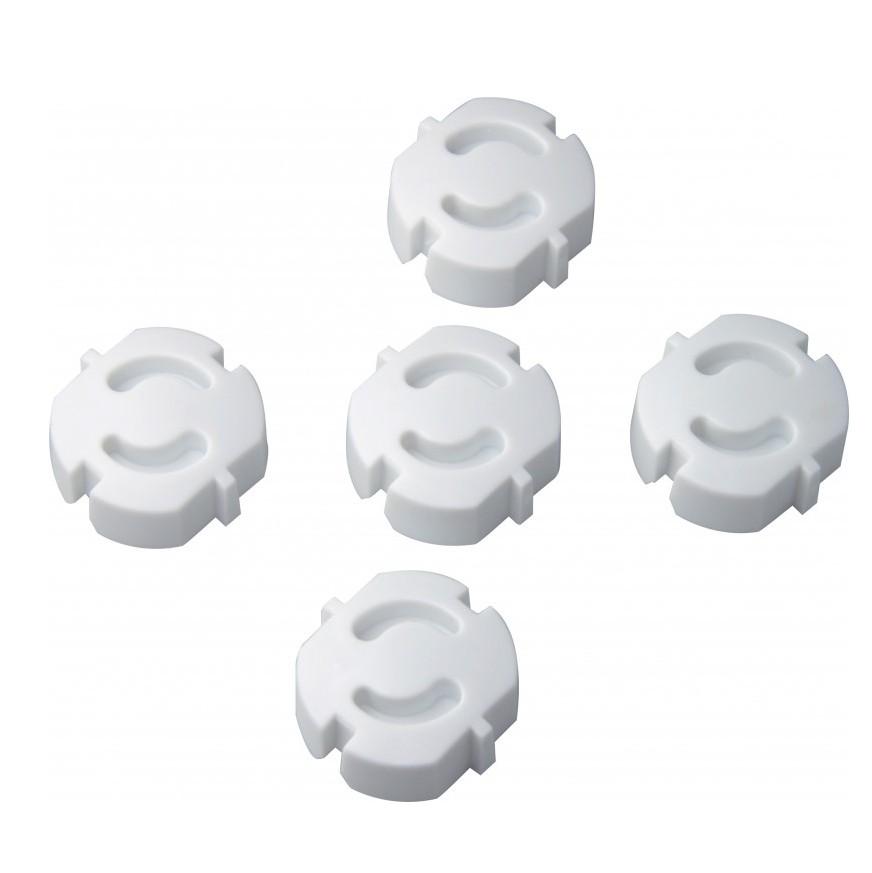 5 Stück H+H KS 6 Steckdosensicherung zum Einstecken, Weiß