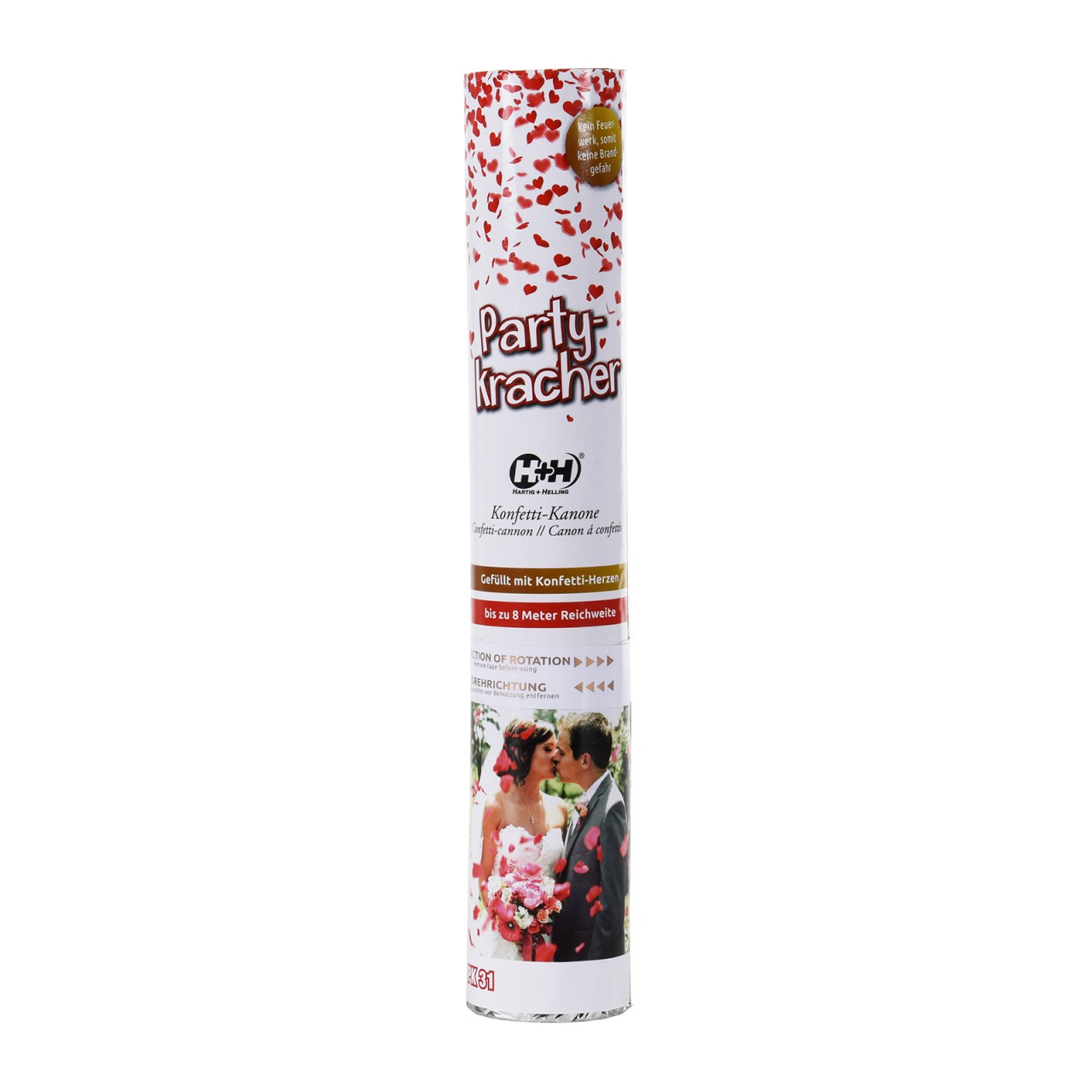 H+H PK 31 Party banger heart Canon Confettis - 30g