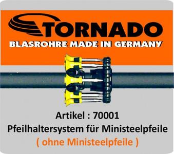 Pfeilhaltersystem für Ministeel Pfeile / .40 Kaliber 001