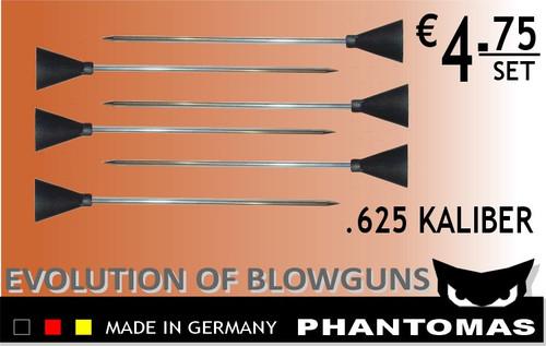 6 Blasrohr Darts 114 mm / .625 Kaliber – Bild 2