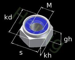 M3 Sechskant-Stopmuttern DIN 985