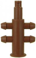 Adapter 4-fach, Microschlauch 3/5, für Nippelauslass