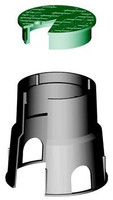Ventilboxen HDPE Typ VB507 rund