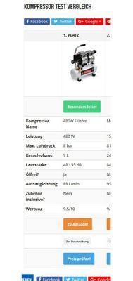 480W Silent Flüsterkompressor Druckluftkompressor nur 48dB leise ölfrei flüster Kompressor Compressor IMPLOTEX – Bild 6