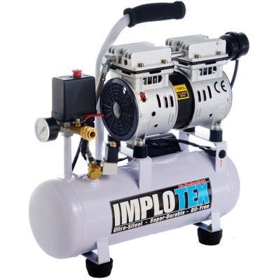 480W Silent Flüsterkompressor Druckluftkompressor nur 48dB leise ölfrei flüster Kompressor Compressor IMPLOTEX – Bild 1