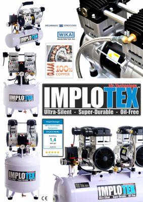 850W Silent Flüsterkompressor Druckluftkompressor nur 55dB leise ölfrei flüster Kompressor Compressor IMPLOTEX – Bild 2