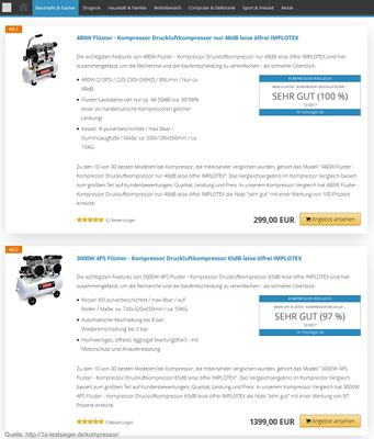 3000W 4PS Silent Flüsterkompressor Druckluftkompressor 65dB leise ölfrei flüster Kompressor Compressor IMPLOTEX – Bild 7