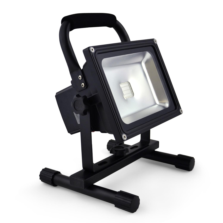 20w akku led flutlicht baustrahler 2000lm 6600mah li ion. Black Bedroom Furniture Sets. Home Design Ideas