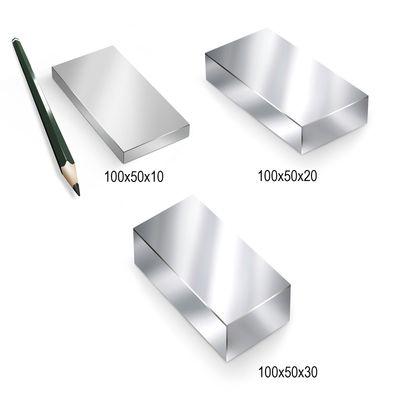 Neodym Magnet Magnete Quader groß ab 30mm von 18KG bis ca. 1000KG Zugkraft N45 N52 vernickelt NdFeB – Bild 14