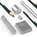 Neodym Magnet Stab 4-30mm von 1 KG bis ca. 50 KG Zugkraft N45 vernickelt NdFeB Rund - Eckig