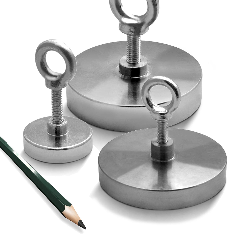 Neodym Bergemagnet Doppel Suchmagnet 120 Kg Magnetangeln Magnet Fischen 50 mm