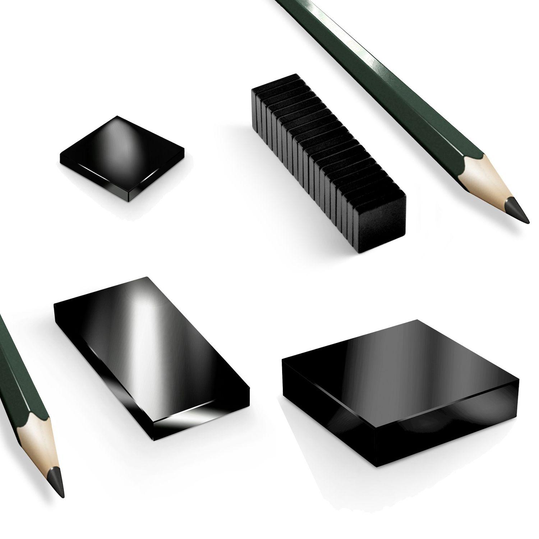 blackedition neodym magnete quader n45 schwarz magnete magnete black. Black Bedroom Furniture Sets. Home Design Ideas