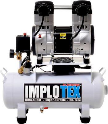 1500W 2PS 18L Silent Flüsterkompressor Druckluftkompressor 60dB leise ölfrei flüster Kompressor Compressor IMPLOTEX – Bild 1