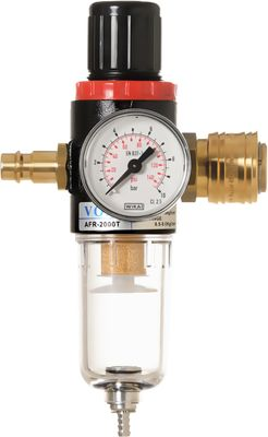 Steck-Druckminderer mit Partikelfilter und Wasserabscheider inkl. halbautomatischen Entwässerung von IMPLOTEX – Bild 1