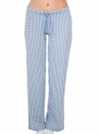 ALBERO Damen Schlafanzughose Bio-Baumwolle Pyjamahose