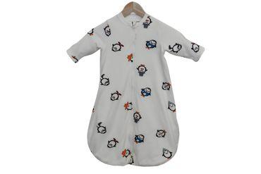Baby Schlafsack Bio-Baumwolle Schlafsack Pinguine Langarm  – Bild 3
