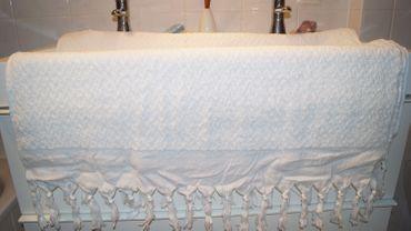 Lalay Duschtuch Baumwolle Badetuch handgewebt 100x180cm – Bild 3