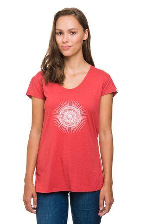 Evermind Damen T-shirt Rundhals 60% Bio-Baumwolle Kurzarm Ornament – Bild 3