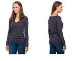 Evermind Damen Oberteil Bio-Baumwolle Shirt Top Langarm 1007-1516 001