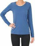 Albero Damen Langarm Shirts Bio-Baumwolle Oberteil T-Shirt