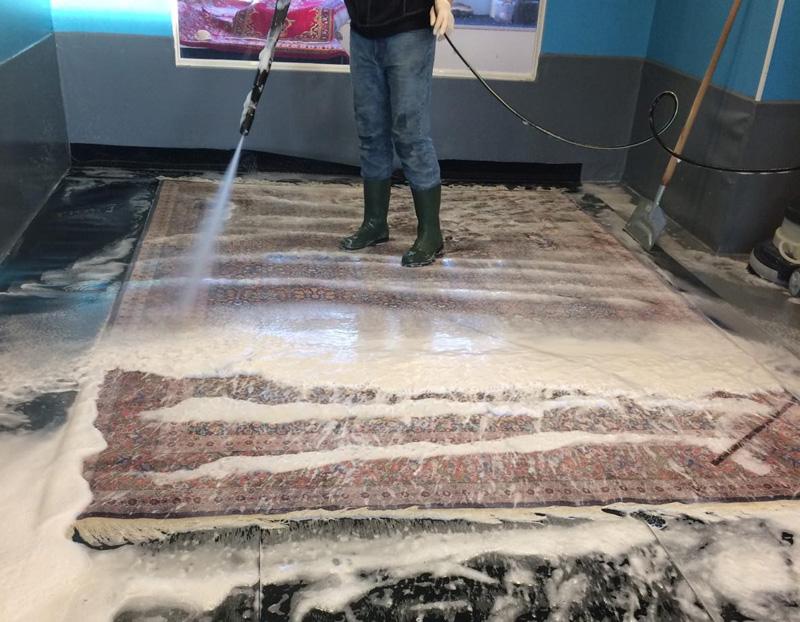 Teppichreinigung waschen arbeit