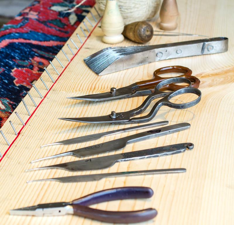 Teppichreparatur Werkzeuge Schere Zange