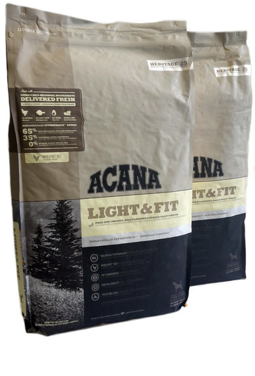Big Pack:Acana Heritage Light & Fit 22,8kg (2x 11,4 kg)