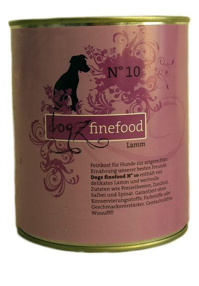 Dogz Finefood No.10: Lamm 800g